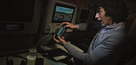 Bigger planes. Longer routes. And Emirates  has gone farther with in-flight entertainment, too.
